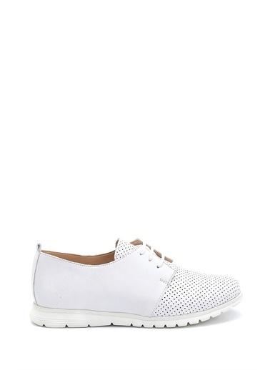 Derimod Kadın Deri Ayakkabı Beyaz